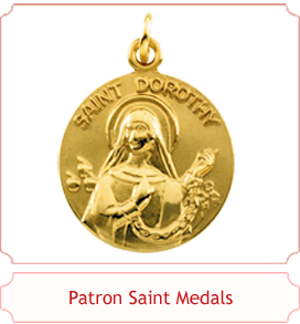 Patron Saint Medals in Gold